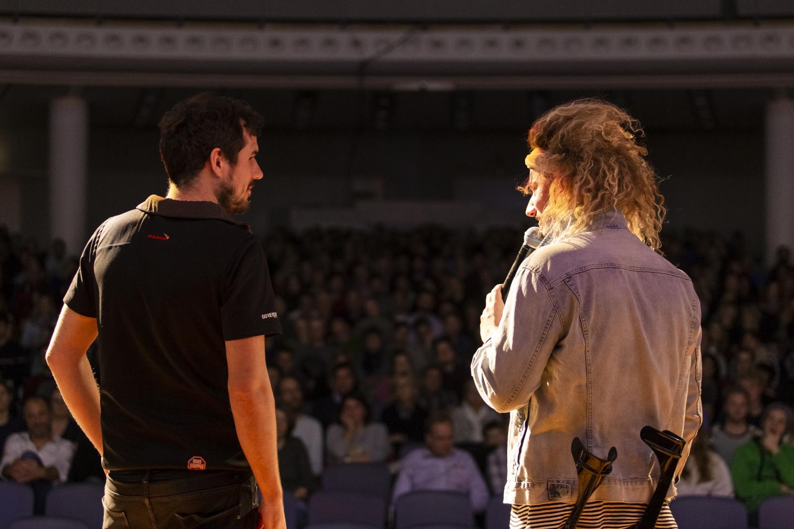 Tom Belz on stage in Stuttgart
