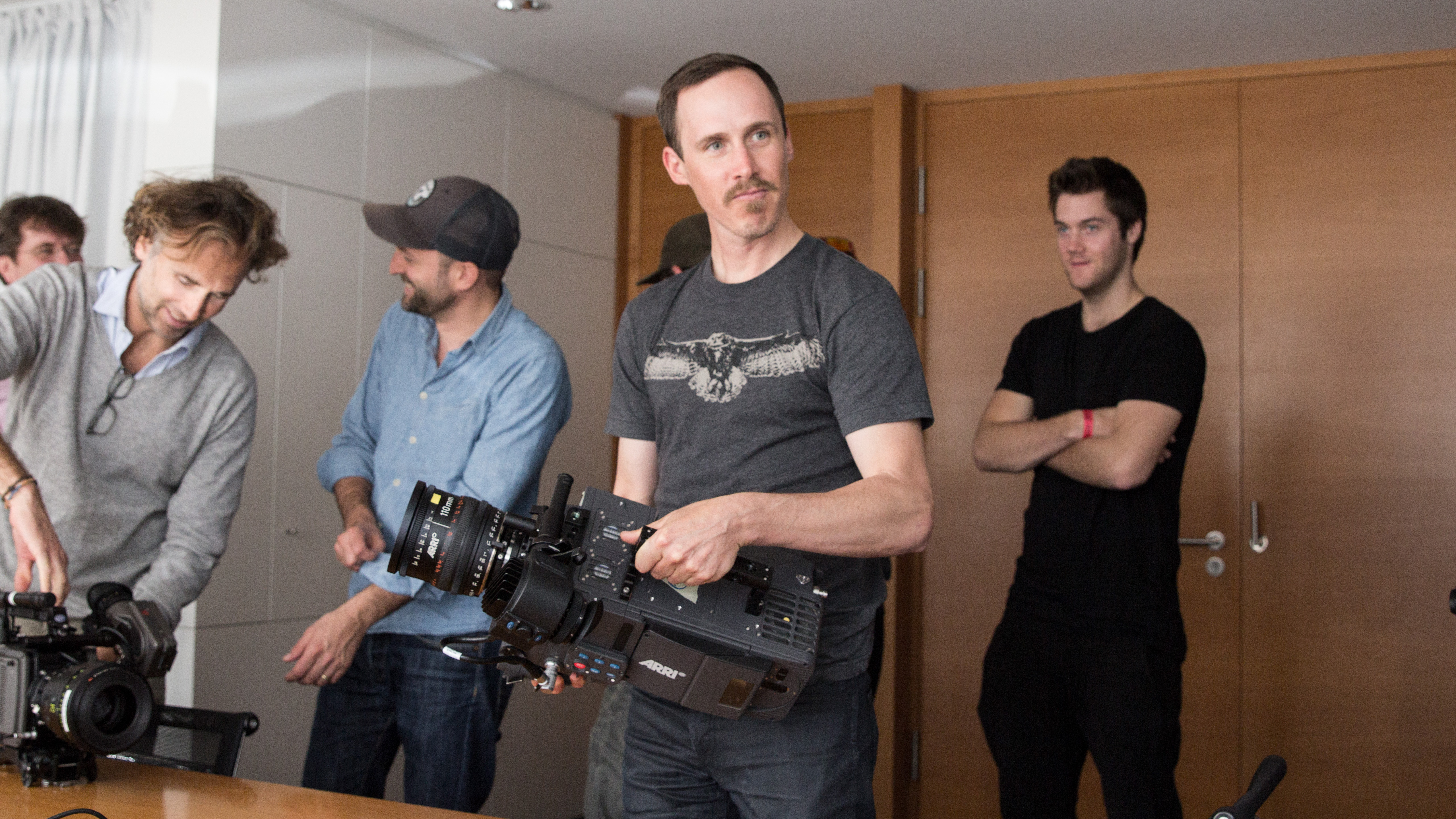 Director of 'Dream' and 'Nobody's River Skip Armstrong testing the ARRI equipment.