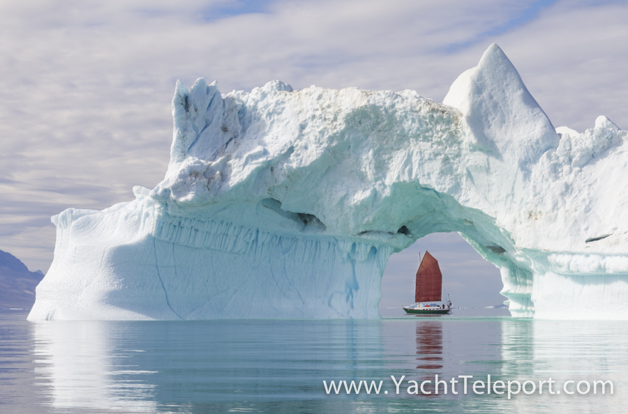 I'm always humbled by the raw power and the majesty of the Arctic, and never more-so than when sailing amongst towering, impossibly sculpted icebergs like this one in Disko Bugt on the west coast of Greenland. As there was only my girlfriend Jess and myself onboard our little 29-foot yacht and no one else around, I had to hop into our little blow-up dingy with my camera and row towards this one, while Jess bravely single-handed 'Teleport' around the other side so I could get this magic photo. She had to make two passes, because during the first one, a large berg behind me exploded and rolled dramatically over, and I missed the shot!