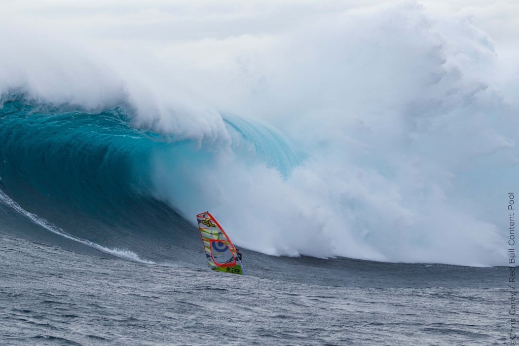 Alastair McLeod – a 23 year old student from Monash University - became the first person to windsurf the giant waves of Pedra Branca off Tasmania's South Coast, Australia on July 28-29, 2015 // Chris Carey / Red Bull Content Pool // P-20150807-00570 // Usage for editorial use only // Please go to www.redbullcontentpool.com for further information. //